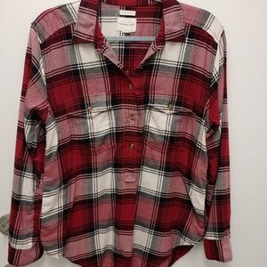 American Eagle womens flannel top